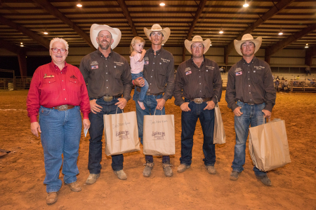 Big Bend Ranch Rodeo 2nd Place Team: Veale Ranch/TeePee Cattle team from Parker and Tarrant counties