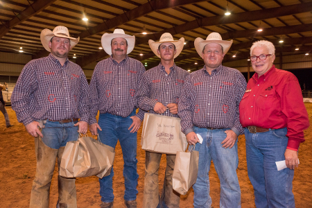 Big Bend Ranch Rodeo 3rd Place Team: The Detwiler Cattle/Heck Cattle team from Childress and Clarendon